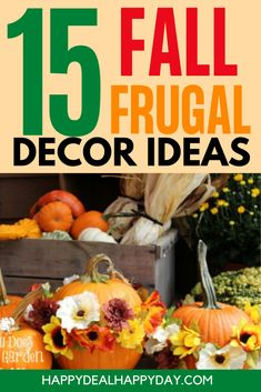 15 Fall Frugal Decor Ideas for your home! Make these simple and affordable DIY fall decor items to spruce up your home for the fall season! #falldecor #frugalfalldecor #fallfrugaldecorideas #fallfrugaldecorideas Coffee Filter Wreath, Coffee Filter Crafts, Coffee Crafts, Diy Ideas, Craft Ideas, Decor Ideas, Yard Sales, Fall Decor, Holiday Decor