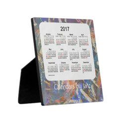 2017 Holiday Desk Calendar 5.25 x 5.25 with EaselRonnie Joe