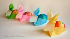 Origami Maniacs: Origami Bunny Container by David Donahue
