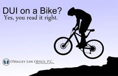 You can be charged with a #DUI or #DWAI if you ride your #bike while #intoxicated in Colorado!