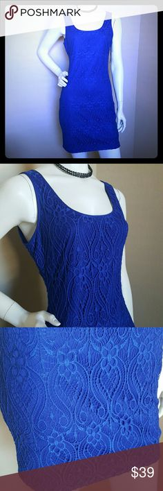 Brand New Guess Blue Dress size 2 Beautiful classy dress for coctail and casual Guess Dresses Mini