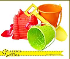 Have fun in the sun with the kids this #Summer with our assorted range of beach toys such as buckets, spades and much more to build the ultimate #sandcastles. Visit your nearest #PlasticsForAfrica branch today. #Toys
