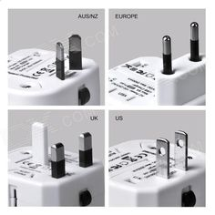 MOCREO Universal Dual USB Travel Wall AU / UK / US / EU Plug Power Charger Adapter - White - Free Shipping - DealExtreme