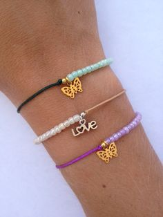 Twoway friendship bracelet with small pearls and by IzouBijoux, €8.00