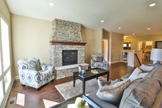 Gallery - Creative Homes. Amazing living room in one of our homes in the neighborhood Liberty West, located in Stillwater Minnesota.