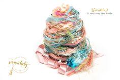 Waunderlust Fiber Art Yarn. 32 Yard Novelty Yarn, Ribbon and Art Fiber Bundle. by Panachely on Etsy