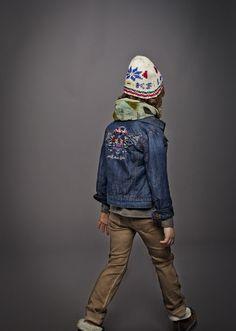Mode enfant : Veste en jean et jean slim IKKS