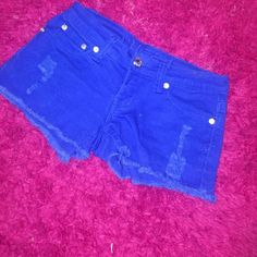 Rue21 colored blue shorts size 0/1 Colored blue shorts Rue 21 Shorts Jean Shorts