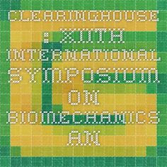 Clearinghouse XIIth International Symposium on Biomechanics and Medicine in Swimming