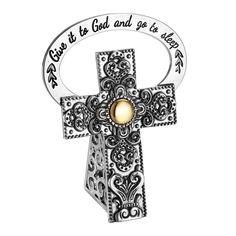 Bonyak Jewelry 18 Inch Rhodium Plated Necklace w// 6mm Green May Birth Month Stone Beads and Saint Teresa of Avila Charm