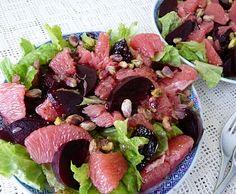 Beet and grapefruit salad.