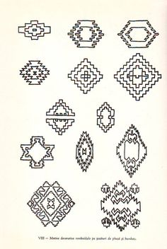 Image Romanian Lace, Beaded Embroidery, Tatoos, Folk Art, Diy And Crafts, Projects To Try, Cross Stitch, Doodles, Carpet