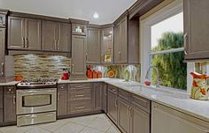 West Point Grey Kitchen Cabinets - RTA Kitchen Cabinets. I like the medium grey…