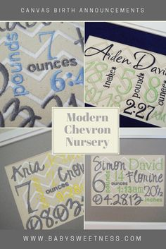 New Baby Gifts Custom Embroidered For You by babysweetness Grey Chevron Nursery, Etsy Handmade, Handmade Gifts, Shopping Mall, Framed Canvas, New Baby Gifts, Nursery Decor, New Baby Products, Birth