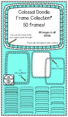 Don't miss this! Colossal Doodle Frame Collection. Get creative with your worksheets! https://www.teacherspayteachers.com/Product/Doodle-Frames-Colossal-Collection-1979439