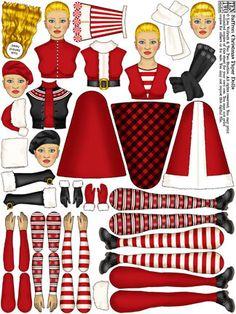 Saffron Christmas Paper Dolls