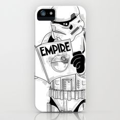 Stormtrooper Empire  iPhone Case by Vin Zzep - $35.00