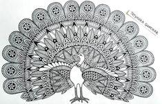 peacock by Tatyanka-Gunchak on DeviantArt Easy Mandala Drawing, Mandala Doodle, Mandala Art Lesson, Doodle Art Drawing, Mandala Artwork, Zentangle Drawings, Pencil Art Drawings, Art Sketches, Mandala Painting