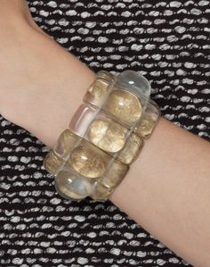 Florence Gold Resin Bracelet | Dominique Denaive | Halsbrook