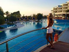 The Atrium Platinum is one of the best 5 star hotels in Ixia Rhodes, Greece and it makes the best choice when it comes to luxury resorts in Rhodes. Ixia Rhodes, Greece Rhodes, Girls Swimming, Atrium, 5 Star Hotels, Things To Come, Luxury, Building, Blue