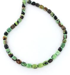 LIME GREEN CHINESE TURQUOISE BARREL BEADS 8.7x10.8mm