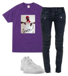 """""""Untitled #2239"""" by dreakagotswagg ❤ liked on Polyvore featuring Balmain and NIKE"""