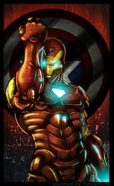 Iron Man with Cap's Shield