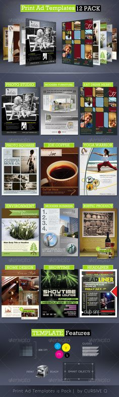 Print Ad Templates 12 Pack - GraphicRiver Item for Sale