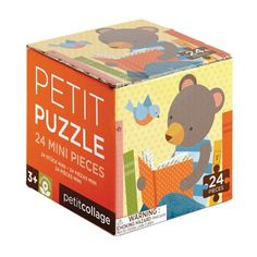Petit collage puzzel reading bear 24 stks 2 jr+