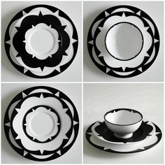 """Sound Made Visible Ceramic Tableware by """"Blakebrough+king"""".    The patterns etched onto the plates and bowls are graphic representations of the geometric patterns sound frequencies make on water and salt (cymatics)."""