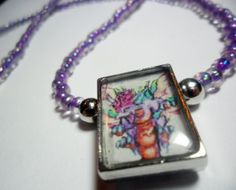 Video game altered art pendant Secret of Mana  by ReturnersHideout, $12.50