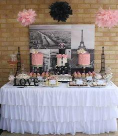 Paris theme sweets & treats table #quinceanera
