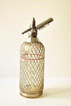 Midcentury Soda Siphon Seltzer Bottle Vintage by thelittlebiker
