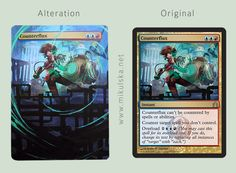 M:tG altered card - Counterflux by ~Krufka on deviantART