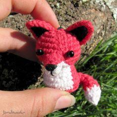 red fox, amigurumi, crochet, organic cotton, handmade with love by lamebaverde