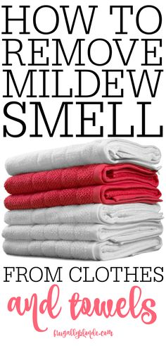Do your clothes smell of mold and mildew? Check out this simple tip on how to remove mildew smell from clothes and towels. Hint: It only takes 1 ingredient!