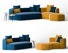 A model and visualization of the Bonaldo Panorama Sofa.