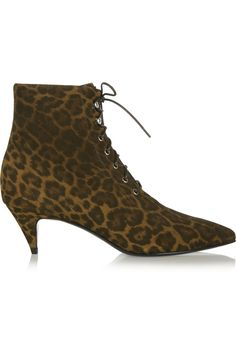 SAINT LAURENT Leopard-print brushed-suede ankle boots £372 http://www.theoutnet.com/products/512415
