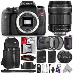 Canon EOS Rebel T6s Digital SLR Camera w/ EF-S 18-135mm f/3.5-5.6 IS STM Lens w/ Advanced Photo and Travel Bundle