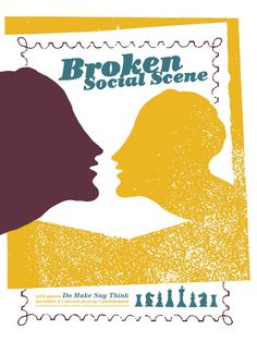 GigPosters.com - Broken Social Scene - Do Make Say Think. poster by http://thelargemammal.com