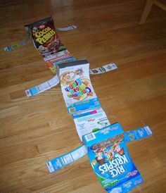 make your tech tech ramps home made card board cereal box