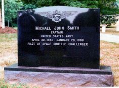 Michael John Smith - American astronaut—pilot of the Space Shuttle Challenger when it was destroyed during the mission. All seven crew members died. Tombstone Epitaphs, In Memorian, Master Of Science Degree, John Smith, Mike Smith, Peace In The Valley, Famous Tombstones, Space Shuttle Challenger, Church Pictures