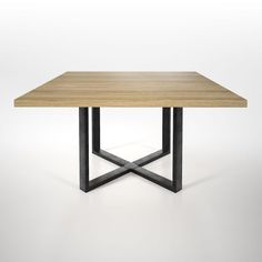 Square Dining Room Table, Center Table Living Room, Square Tables, Dining Table Chairs, Welded Furniture, Steel Furniture, Dining Room Furniture Design, Coffe Table, Interior