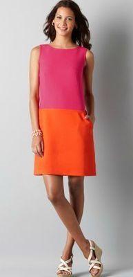 Image result for pink and orange color blocking