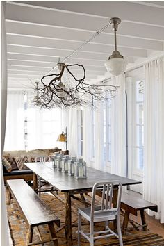 I'd add fairy lights to the tree  Homedit.com Interior Design & Architecture Inspiration Newsletter -