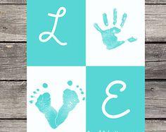 Owl Footprints for Grandparents | Personalized Handprint/ Footprint P oster - L O V E ...