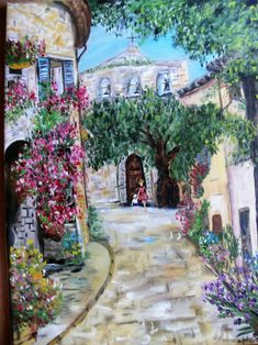 """GREECE VILLAGE STREETS NEW A4 CANVAS GICLEE ART PRINT POSTER 11.7/""""x8.3/"""""""