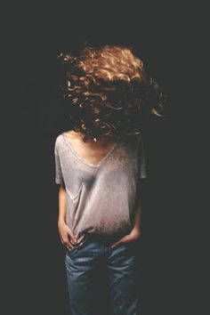 curly | hair | wild | free | beautiful | natural | no effort | love | jeans | denim |