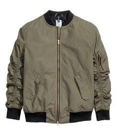 Bomber jacket | Khaki green | Men | H&M NZ