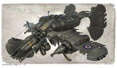 Light Skirmish Airship by Michal Kus